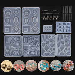 Mixed Style Silicone Epoxy Resin Casting Molds UV Tool Set For DIY Pendant Jewelry Making Finding Accessories Supplies
