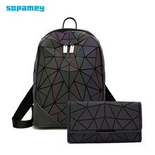 Luxury Women Backpacks Luminous Geometric Backpack
