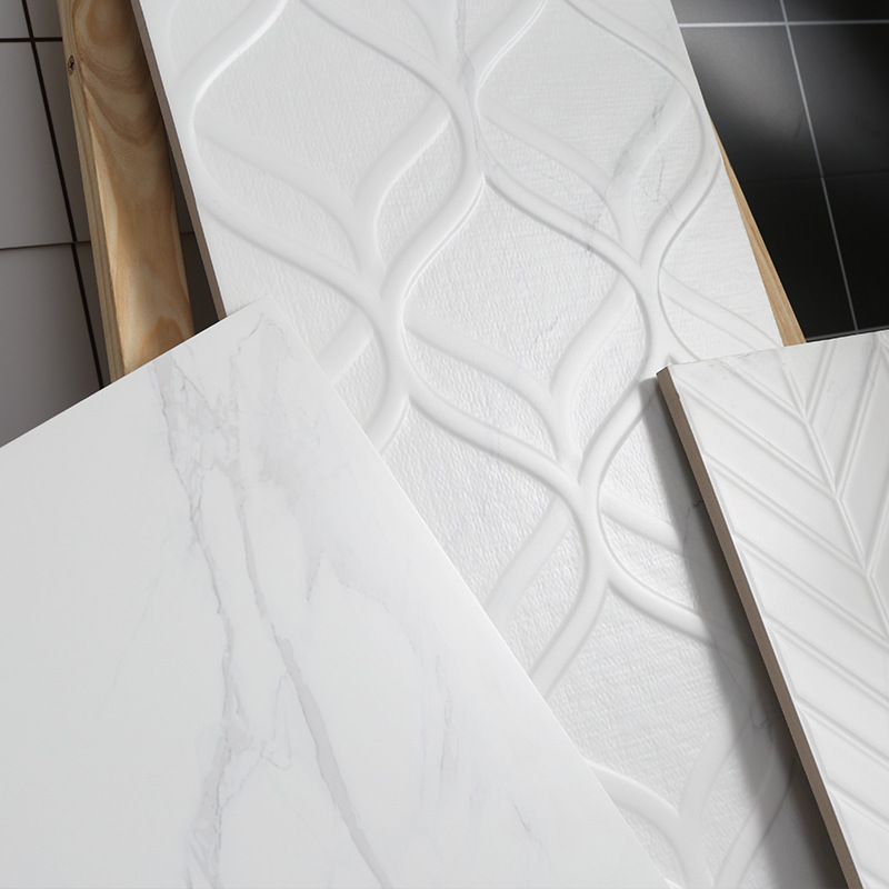 Minimalist Modern Marble Tile Kitchen Bathroom Jazz White Wall Tile Toilet Anti-slip Glazed Tile 300X800