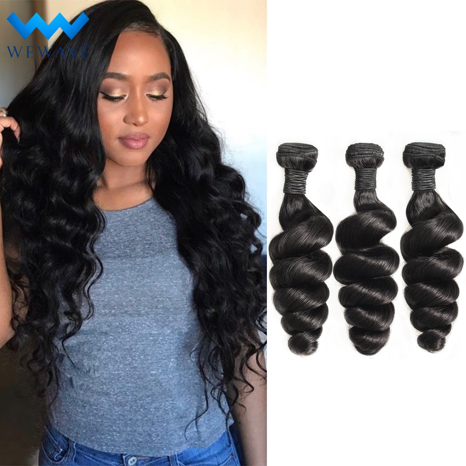 loose wave brazilian hair weave 3 bundles wet and wavy long natural human hair extensions 28 30 inch bundle deals remy