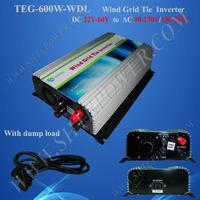 On grid tie Wind Inverter 600W DC 22 60 to AC 110v 220 230 240v 600w wind grid inverter wind turbine converter 600w