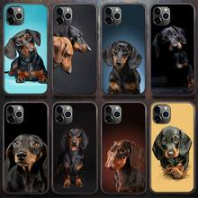 Phone-Case Dachshund 6s-Plus Cute for 8 XR 11/12-pro/Mini/Pro XS MAX Dog 5S 7