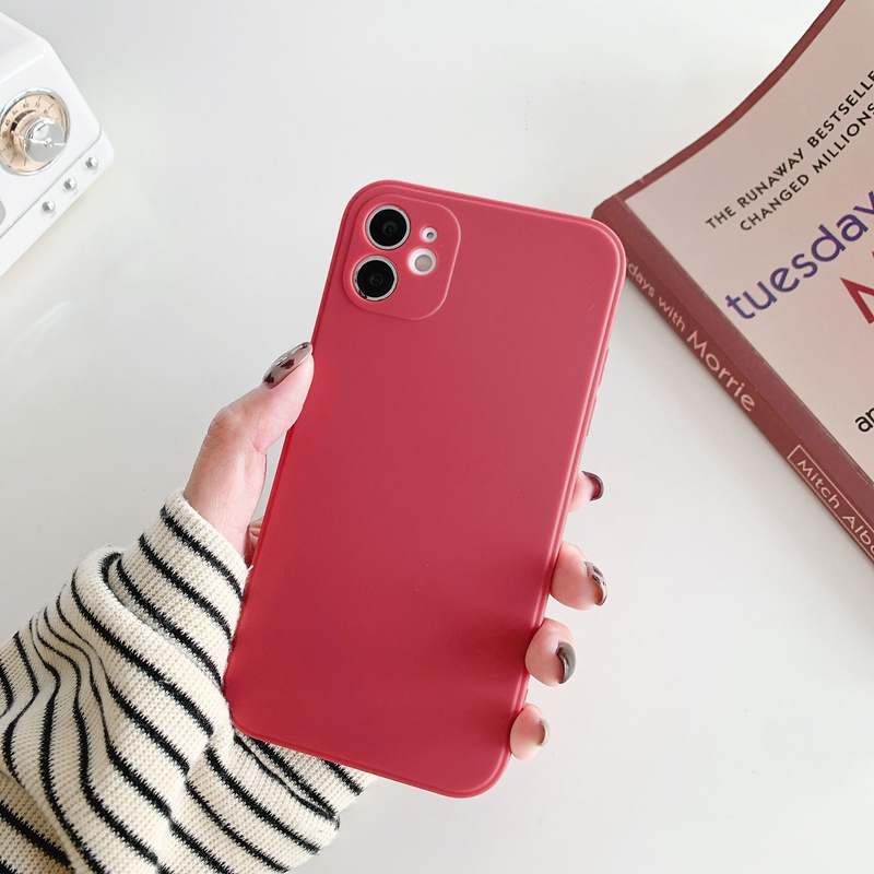 Square Candy Frosted Phone Case For Etui iPhone 12 11 Pro X XR XS Max 6 6S 7 8 Plus SE 2020 Soft Back Cover Coque
