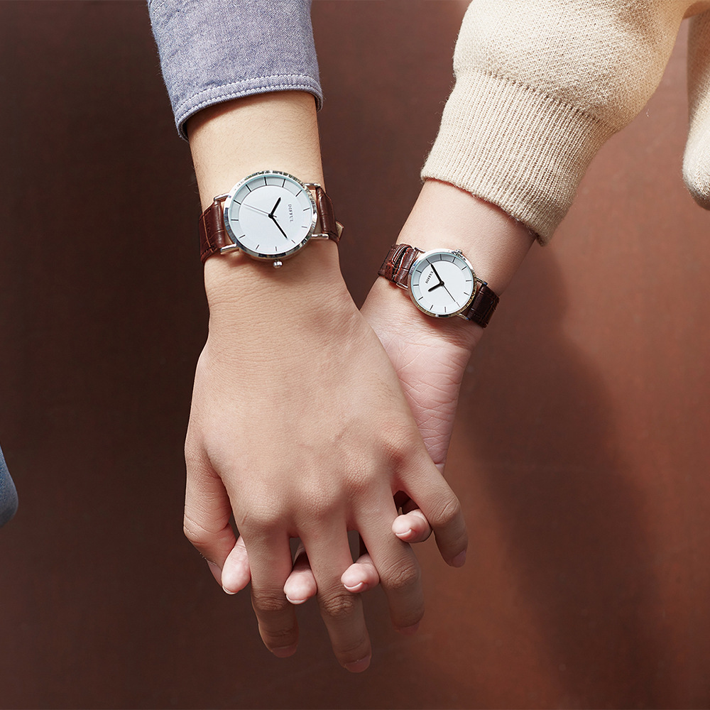 Couple Watch Luxury Quartz Casual Fashion Cute Leather Strap  Led Digital Gifts For Ladies Mens