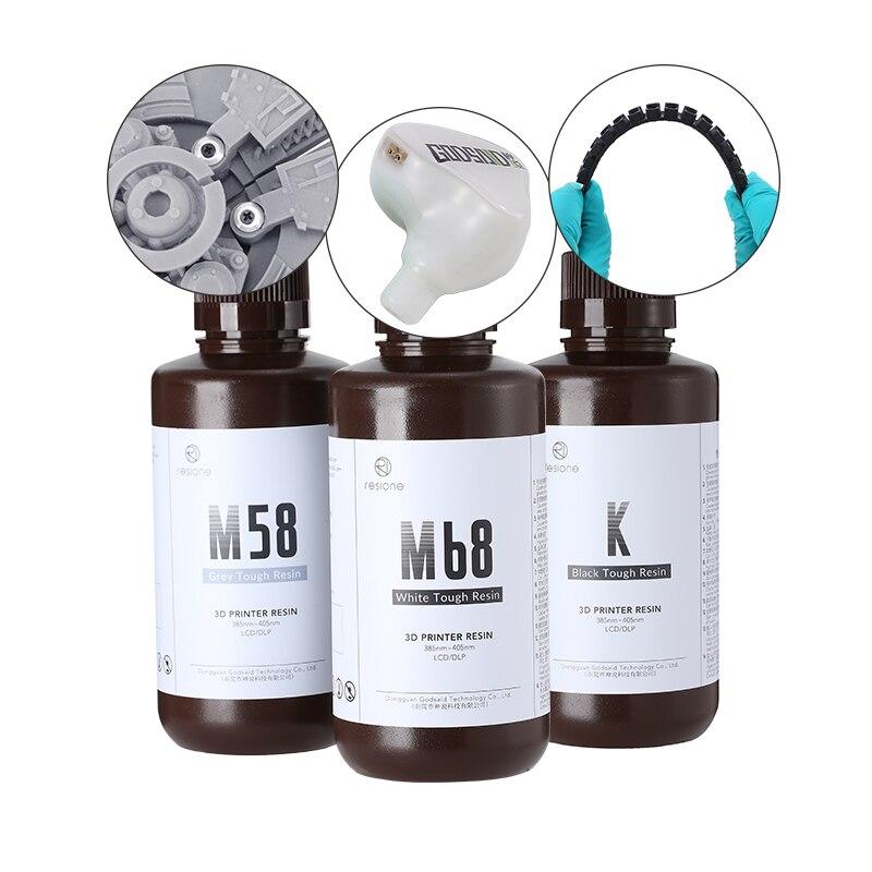 Resione 500g Жесткий АБС-как 3D-принтеры смолы Elegoo Anycubic объект соглашения о качестве предоставляемых услуг DLP ЖК-дисплей 405nm УФ Смола 3D-принтеры