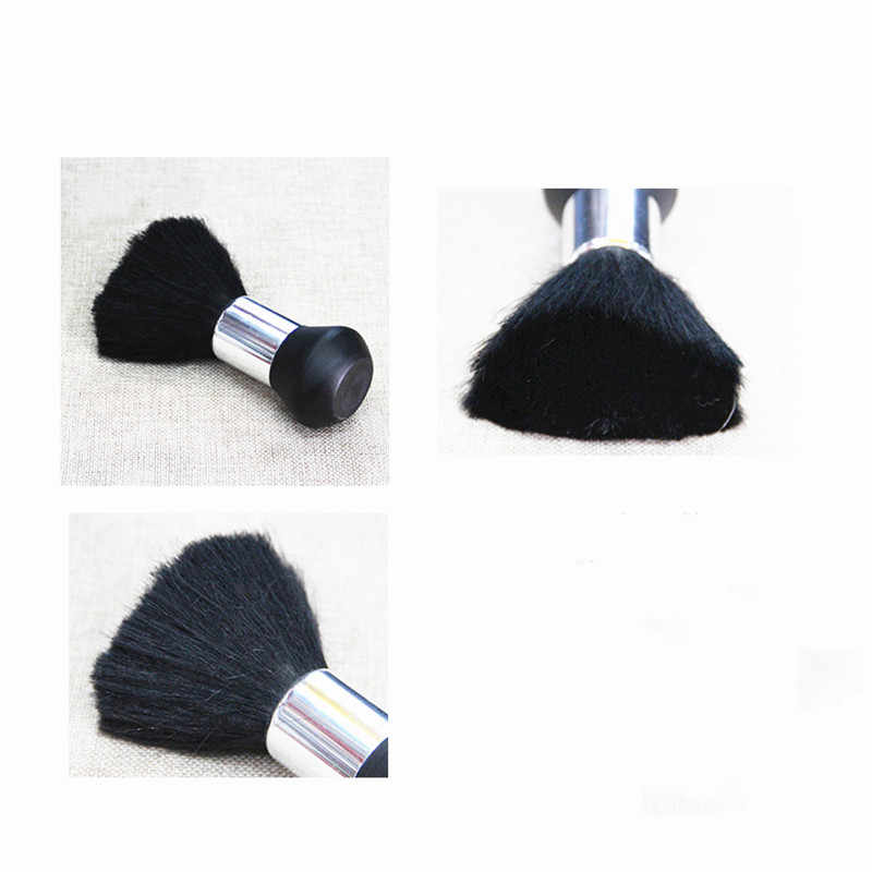 Neck Duster Pinsel Gesicht Kunststoff Griff Haar Sauber Haarbürste Schneiden Friseur Styling Salon Barber Make-Up Schwarz Weiche Tool