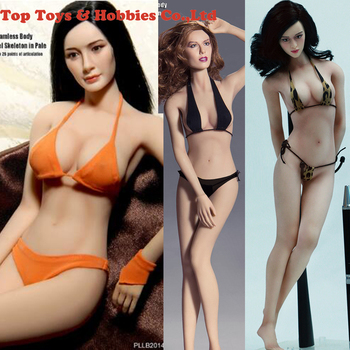 IN STOCKT BLeague PLMB2014-S01 S02 S07 1/6 Scale Girl Female Women Pale/Suntan Medium Bust Seamless Flexible Body Doll w  head 1 6 ph sexy female super flexible seamless body medium breast suntan pale action figure doll toys without head for kumik head