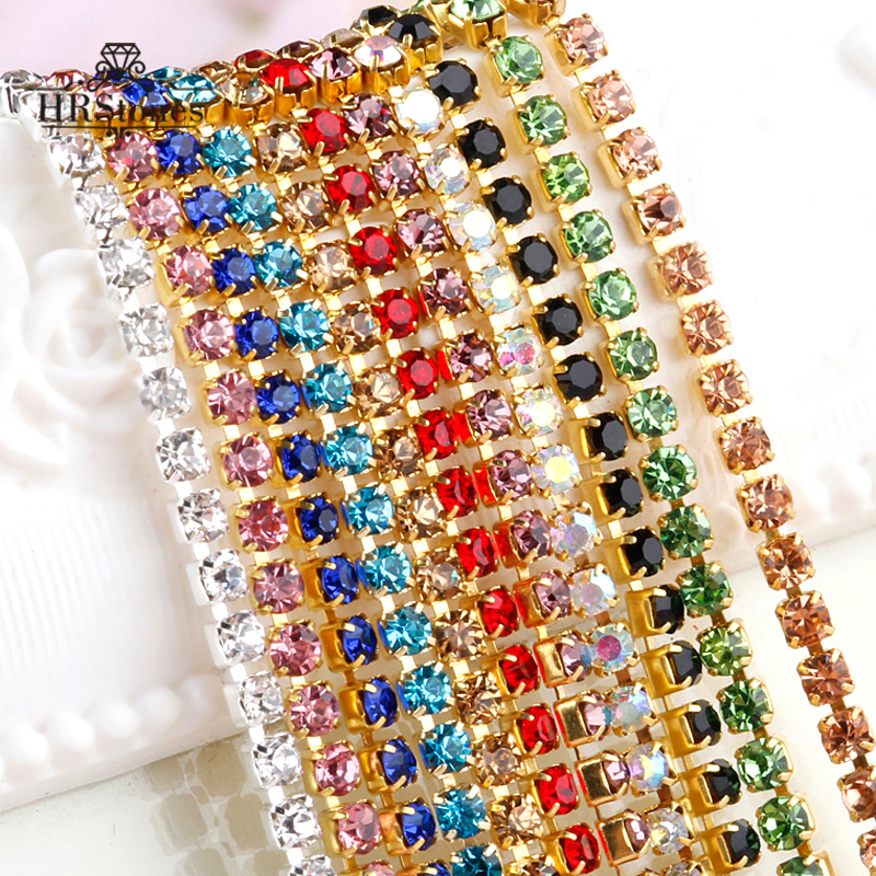 Shoes Accessories Sewing On Fashion Crystals Wedding Rhinestones Chain For DIY Wedding Evening Dress image