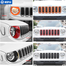 MOPAI Car Grille Cover Stickers for Jeep Renegade 2016-208Car Front Head Light Lamp Decoration Cover for Jeep Renegade 2016-2018 kaitlyn rice renegade