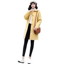 Autumn Winter Women Woolen Coat Long Sleeve Turn-Down Collar Outwear Jacket Elegant Single Breasted Overcoats Manteau Femme цены онлайн