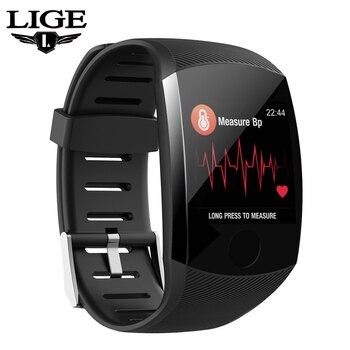 Reloj inteligente LIGE nuevo Bluetooth para hombre, mujer, ritmo cardíaco, podómetro, relojes, reloj impermeable para fitness, reloj inteligente deportivo