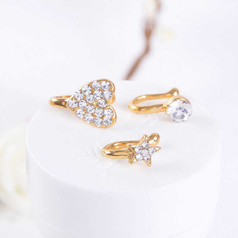 Nostril Hoop Nose Ring Body Piercing Jewelry Nose Studs Lot Gold Septum Rose Gold Silver Color Heart Pentagram Jewelry Aliexpress