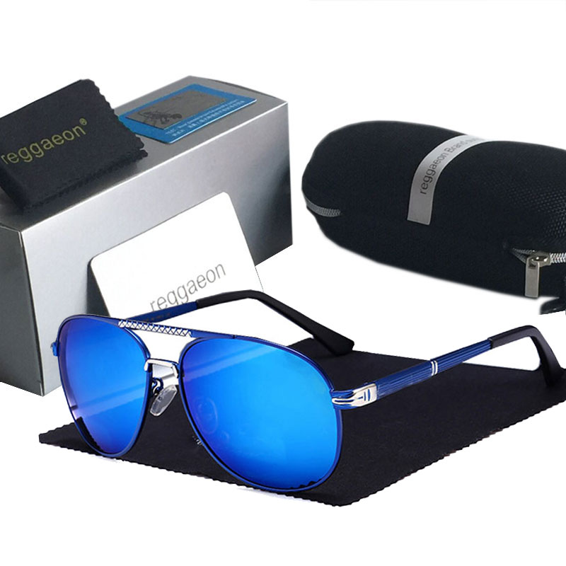 Luxo feminino óculos de sol polarizados 2019 alta qualidade uv400 óculos de sol condução pequeno azul