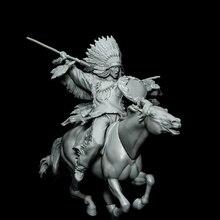Building-Kit Unpainted Figure Horse-Model Fantasy Warrior Resin with Unassambled 1/32-Ancient