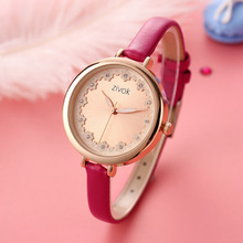 Top ZIVOK Womens Watch Japan Quartz Fine Fashion Woman Clock Real Leather Strap Girls Retro Birthday Gift watch