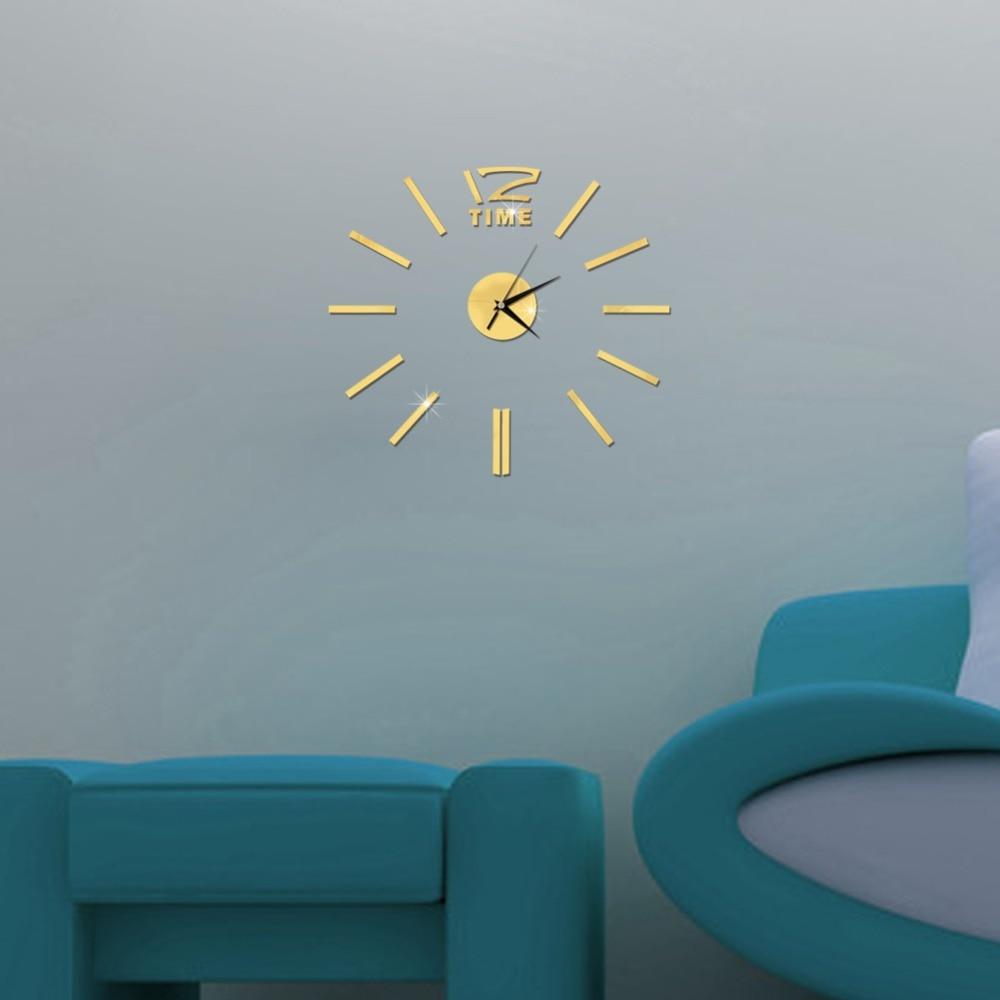 3D Wall Clock Mirror Wall Stickers Fashion Living Room Quartz Watch DIY Home Decoration Clocks Sticker reloj de pared 20
