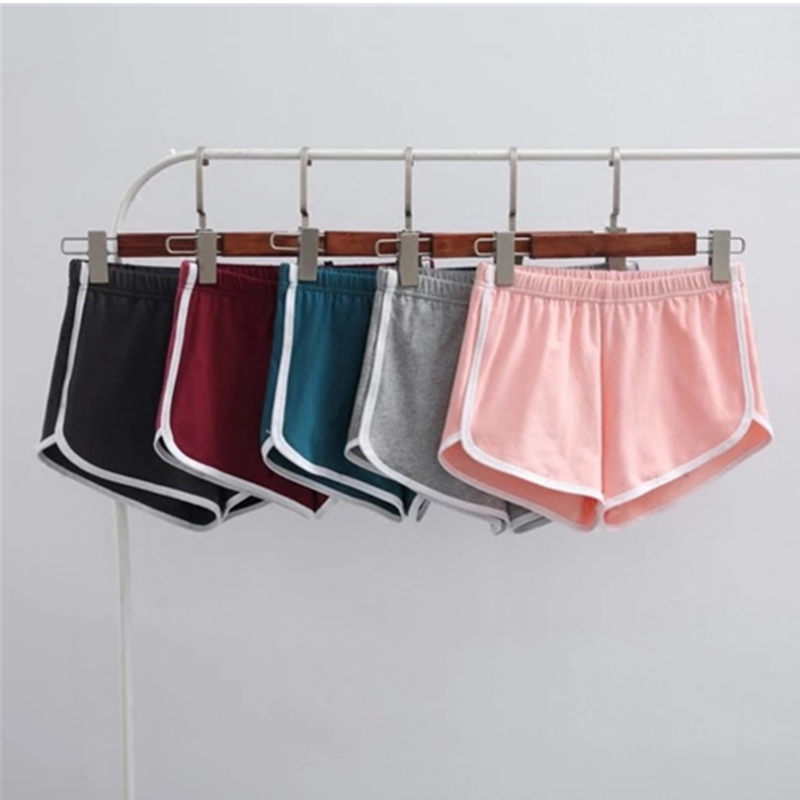 Summer Lady Girl Street Cotton Hot Shorts Fashion Women Elastic High Waist Shorts Workout Loose Solid Soft Casual Short Shorts