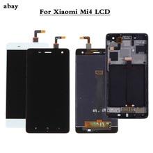 100% Test nouveau pour Xiao mi 4 mi 4 verre remplacement LCD écran tactile numériseur assemblée 5.0 pouces pour Xiao mi 4 LCD
