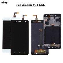 100% 테스트 샤오미 mi 4 mi 4 유리 교체 LCD 터치 스크린 디지타이저 어셈블리 5.0 인치 샤오미 mi 4 LCD