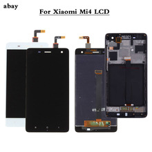 100% teste novo para xiaomi mi4 Mi 4 vidro de substituição, lcd touch screen digitizer, montagem 5.0 polegadas para xiaomi mi 4 lcd lcd