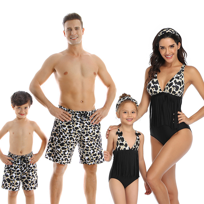 Hca36c78d9f8c464eb64b9b4a01b682a43 - Summer Family Matching Outfits Swimwear Mother Daughter Kids Swimsuit Bikini Bathing Suit Father Son Shorts Swimwear Clothes