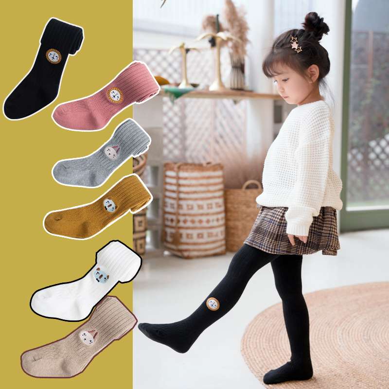 Lovely Cartoon Cat Baby Girls Tights Soft Kids Stockings Tights Pantyhose APE