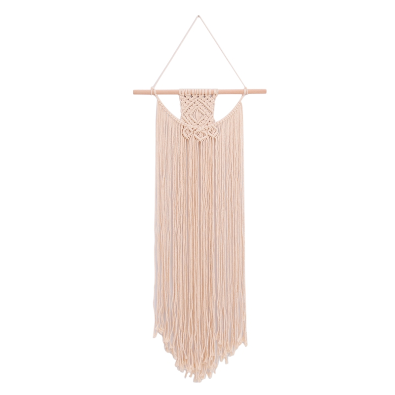 Macrame Wall Hanging Fringe Woven Wall Tapestry Boho Chic Bohemian Decor|Decorative Tapestries| |  - title=