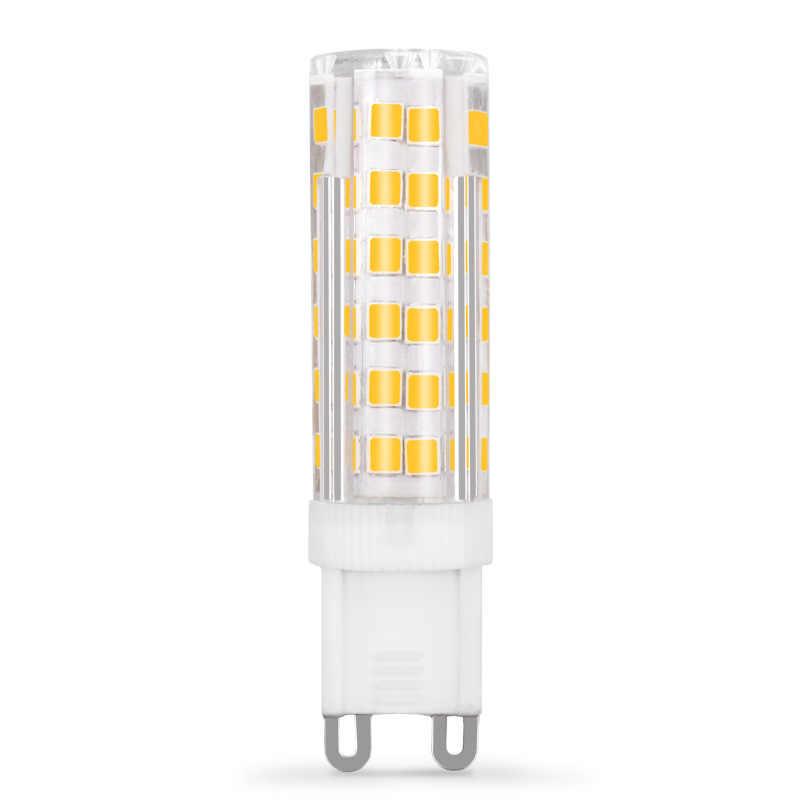 Alta qualidade g9 lâmpada led 220 v 230 v 240 v 5 w 7 9 12 15 18 2835 cerâmica led lâmpada substituir halogênio g9 para lustre