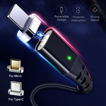 Магнитный кабель GETIHU 2.4A для iPhone XS MAX XR X 8 7, магнитный кабель типа C для быстрой зарядки мобильных телефонов Xiaomi Micro usb type-C