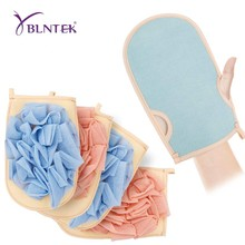 YBLNTEK 2PCS Exfoliating Bath Gloves Mitts Double Sided Body Scrub  Bath Sponge Shower Body Massage Scrubber for Women and Men