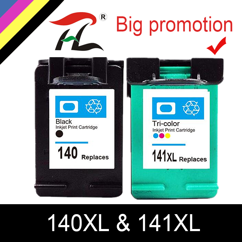 HTL 140XL 141XL Ink Cartridge Replacement for <font><b>HP</b></font> <font><b>140</b></font> <font><b>141</b></font> for <font><b>HP</b></font> Photosmart C4283 C4583 C4483 C5283 D5363 printer image