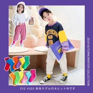 Image 3 - High quality Girl Cotton Socks colorful Kids long toddler Socks For girls baby boy Socks Candy color 1 8y