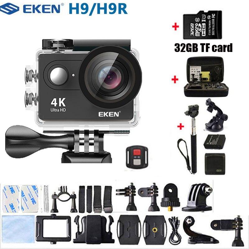 EKEN Экшн-камера H9 H9R Ultra HD 4K WiFi с дистанционным управлением 1080 p/60fps мини-видеокамера на шлем go pro водонепроницаемая Спортивная камера