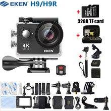 EKEN Action กล้อง H9 H9R Ultra HD 4K รีโมทคอนโทรล WiFi 1080 P/60fps MINI กล้องวิดีโอ GO กันน้ำ Pro กล้องกีฬา