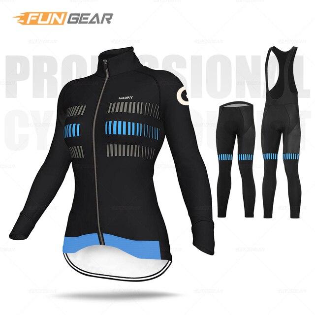 Mulheres roupas de ciclismo manga longa conjunto camisa respirável senhora estrada bicicleta uniforme primavera outono mtb ciclo roupas secagem rápida anti-uv 2
