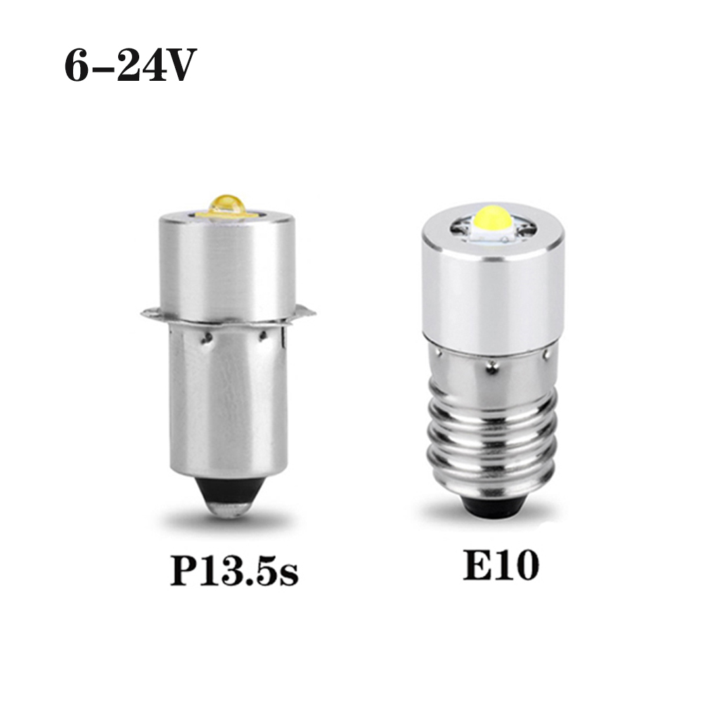 P13.5S E10 3W 6-24V LED Flashlight Bulb Replacement Part Conversion Kit Bulbs For Maglite 3-20 Cells C&D Flashlights Torch Lamp
