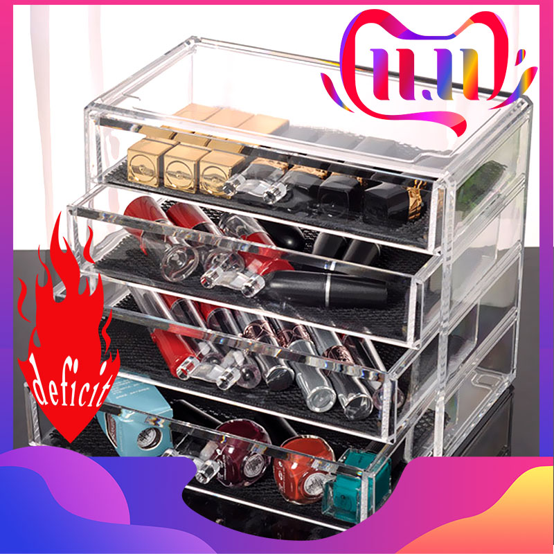 Transparent Acrylic Multi-layer Drawer Cosmetic Storage Box Desktop Creative Jewelry Storage Box Case Makeup Cosmetic Organizer