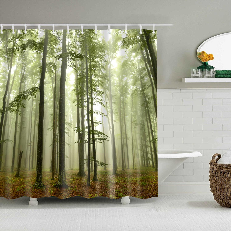 3d bathroom shower curtains thicken