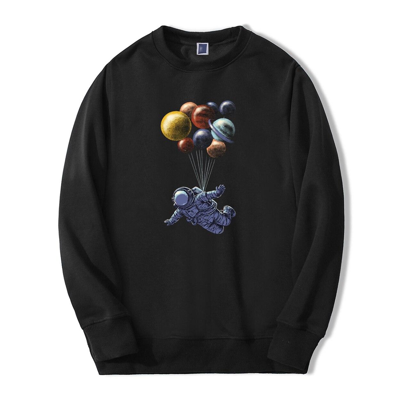 Astronaut Balloon Print Sweatshirts Hoodie Plante Galaxy Men Streetwear Autumn Warm Clothes Bodywarmer Casual Fashion Tracksuit