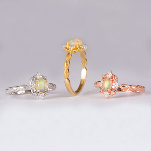 Image 5 - Kuololit Natürliche Opal Edelstein Ringe für Frauen 925 Sterling Silber Ring Hochzeit Handgemachte Engagement Band Teil Geschenk Edlen Schmuck