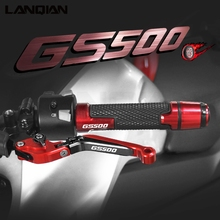 For Suzuki GS 500 E F Motorcycle Accessories Brake Clutch Levers Handlebar hand Grips Ends GS500 89 08 GS500E 94 98 GS500F 04 09
