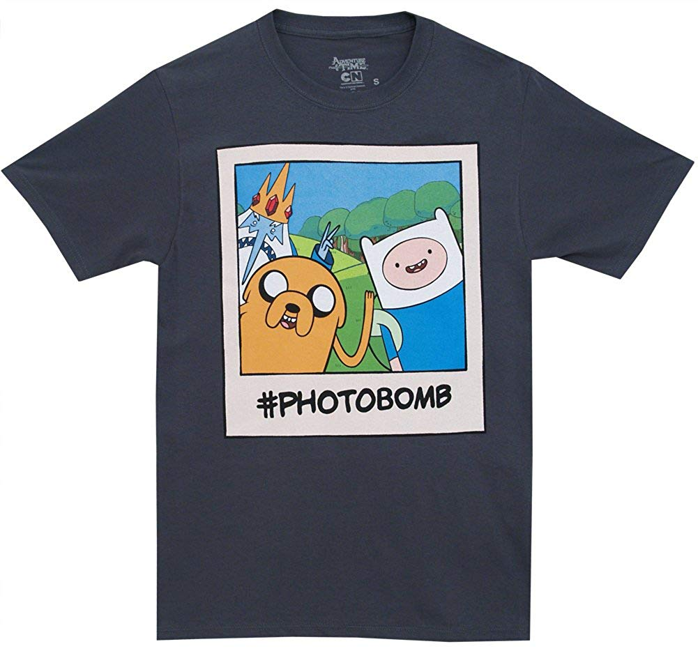 Adventure Time #Photobomb Ice King Jake Finn Cartoon Adult T-Shirt Tee 2019 New Arrival Men'S Fashion top tee image