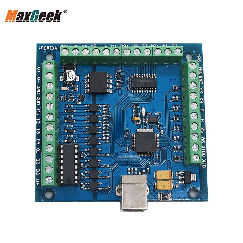 Maxgeek MACH3 4-Axis USB CNC Controller Card Smooth Stepper Motion Mach3 Control Board For CNC Engraving 12-24V 100KHz