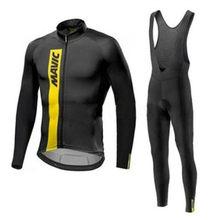 2020 mavic pro equipe de manga longa conjunto camisa ciclismo bib calças ropa ciclismo bicicleta roupas mtb camisa uniforme dos homens