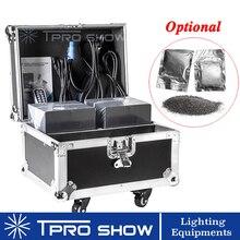 2 uds. De Spark Machine 1 caja de vuelo embalaje Dmx, Control remoto, fuegos artificiales fríos, fuente de chispa con 10 bolsas, 20 bolsas, Ti en polvo para boda
