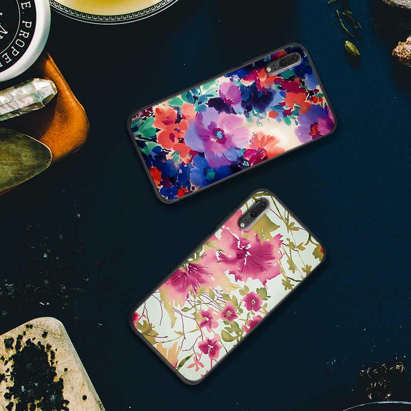 Custodie Per Huawei P10 P20 2019 P8 P9 Mini P30 LITE per Huawei P Smart Z 2018 P20 Pro rosa fiori Copertura Del Telefono Regalo
