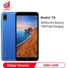 """글로벌 버전 xiaomi redmi 7a 7 a 2 gb 16 gb 5.45 """"snapdargon 439 octa core 4000 mah 배터리 13mp 카메라 스마트 폰"""
