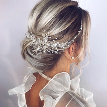 Hair-Comb Wedding-Accessories Bridal-Headwear Crystal Rose-Gold Silver Elegant Shiny