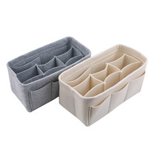 Multi-bolso sentiu armazenamento cesta multifunctionele caixas de armazenamento fazer opbergtas desktop sala de estar brinquedo organizador