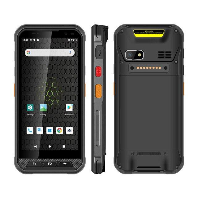 UNIWA V9C étanche Android 9.0 SDM450 Octa Core 4800mAh avec code à barres 2D 3GB de RAM 32GB ROM double SIM NFC OTG 4G LTE Smartphone